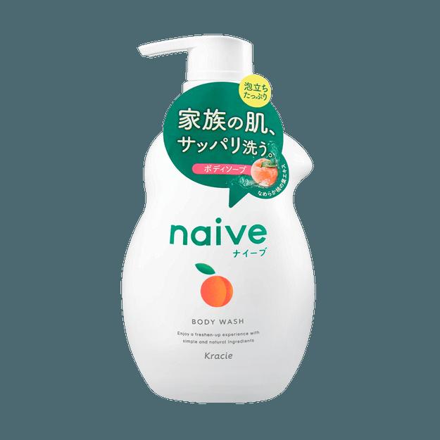 商品详情 - 日本KRACIE嘉娜宝 NAIVE 纯植物性润泽沐浴乳 白桃款 530ml - image  0