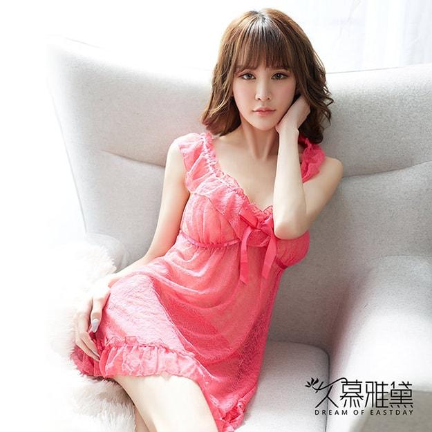 d9bf51289b DRAIMIOR Pink Lady Lace Lace Sweet Nightdress one size - Yamibuy.com