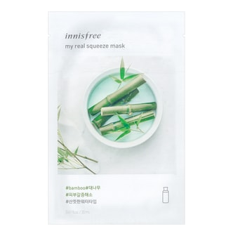 INNISFREE My real squeeze mask  Bamboo 1sheet