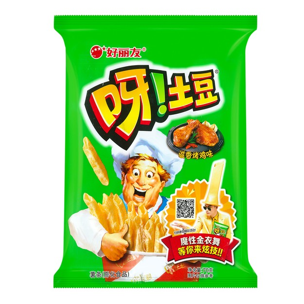 商品详情 - 韩国ORION好丽友 呀!土豆薯条 滋香烤鸡味 70g - image  0