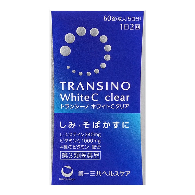 Product Detail - DAIICHI- SANKYO TRANSINO White C Clear 60 Tablets - image 0