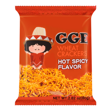 WEILIH GOOD GOOD EAT Hot Spicy Flavor Wheat Cracker 78g (Random Delivery of 2 Packaging)