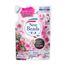 日本KAO花王 除臭柔软洗护合一 洗衣液 补充装 玫瑰木兰香