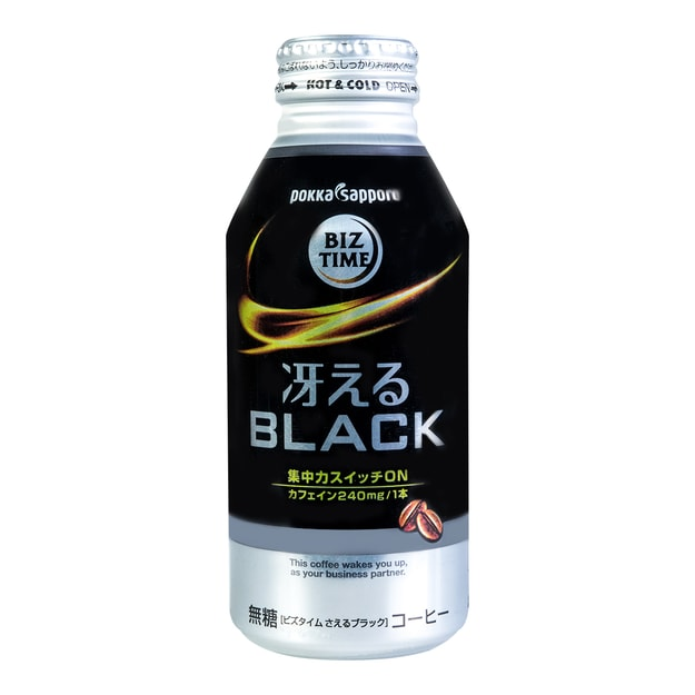POKKA SAPPORO BIZ TIME Black Coffee Drink No Sugar 400ml