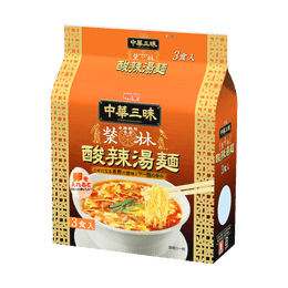 MYOJO Chinese Noodles(Hot and Sour Soup Noodles) 103*3