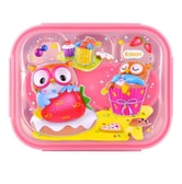 INP PORORO Lunch Box Set with Pouch Pink