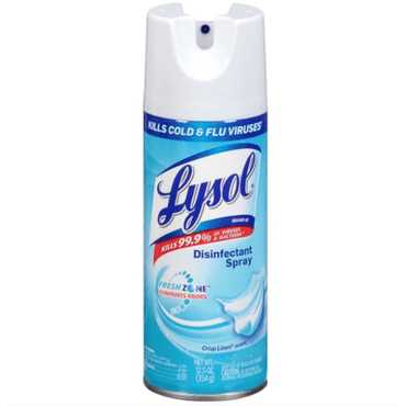 Lysol Disinfectant Spray 12.5oz 345g Kills 99.9% Of Viruses & Bacteria
