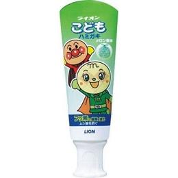 【特价回馈】【日本直邮】日本狮王LION面包超人婴幼儿童牙膏0-2-8岁可吞咽 哈密瓜味 40g