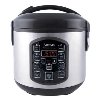 美国AROMA 多功能全智能电饭煲 2L 8杯熟米容量 2.5QT ARC-954SBD (5年制造商保修)