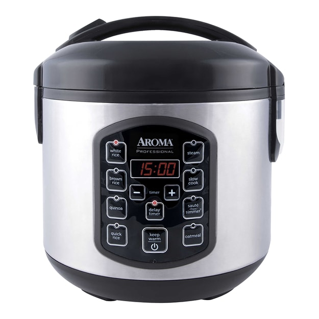 Product Detail - AROMA 8-Cup Cooked Rice Digital Display Rice Cooker Slow Cooker and Food Steamer ARC-954SBD 2.5QT (5 Year Warranty) - image 0