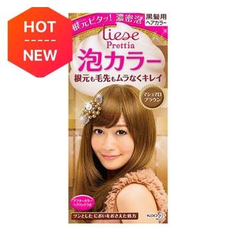 日本KAO花王 LIESE PRETTIA 泡沫染发剂 #棉花糖棕色 单组入 COSME大赏第一位