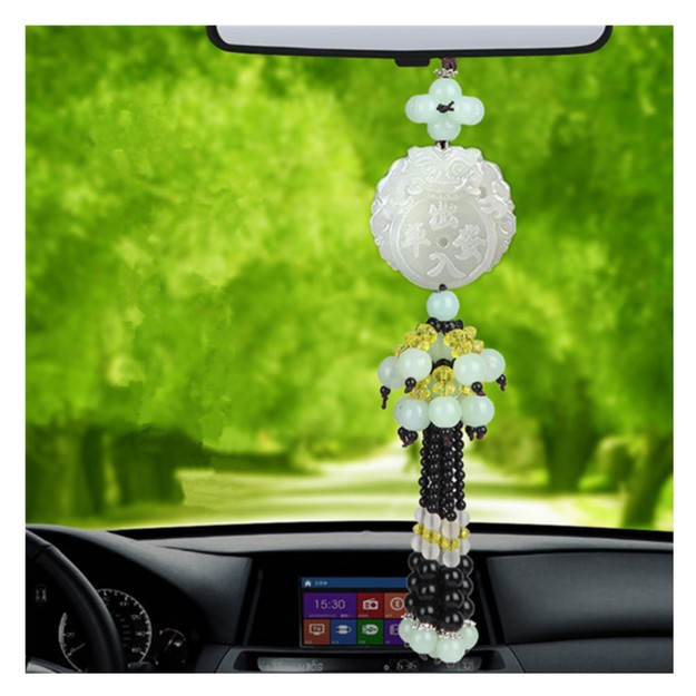 Product Detail - RAMBLE Car Pendant Decorations Ornament Hang Automobile Interior Jade Rearview Mirror Accessories Brave Troops CRPA 1 pc - image 0