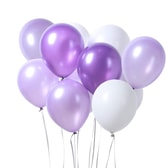 PUTWO Purple & White Latex Balloons for Birthday Wedding Pa 12 Inch 100 Pcs Party Baby Shower Decorations Graduation