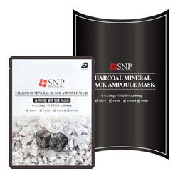 SNP Charcoal Mineral Black Ampoule Mask 10sheets