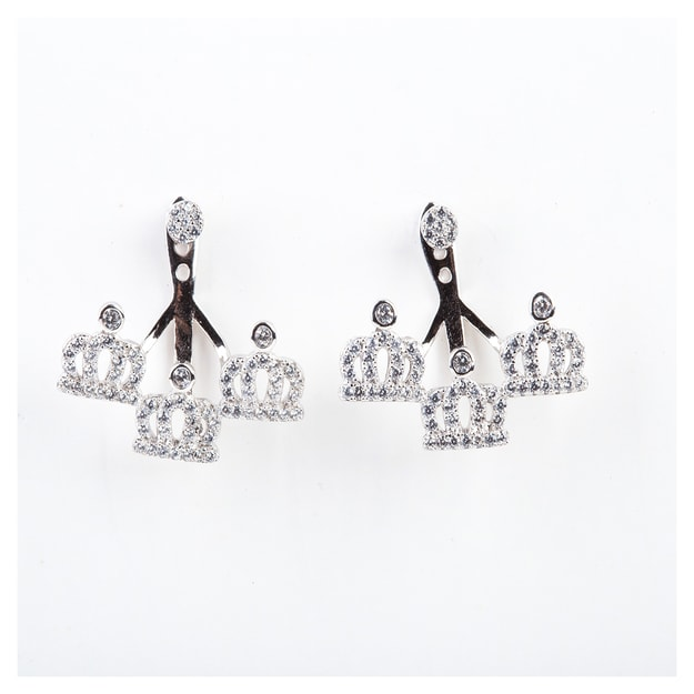 ARIEL Sterling Silver Little Crown Earrings