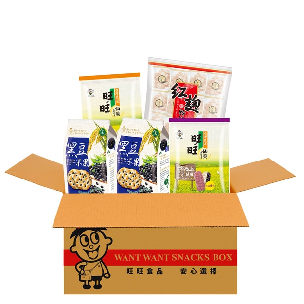 Product Detail - Taiwan WANT WANT Love Health Set Rice Crackers Red Yeast 722g - image  0