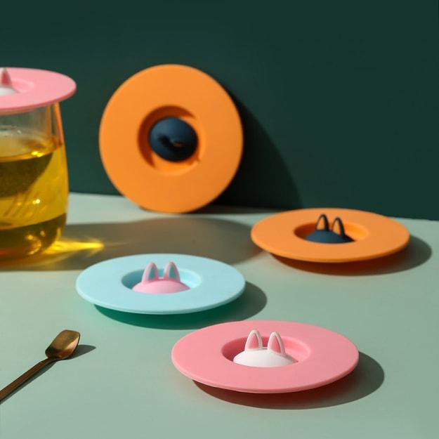 商品详情 - 中国直邮 创意猫耳朵硅胶杯盖防漏防尘马克杯陶瓷茶杯水杯小猫杯盖  仙女粉 - image  0