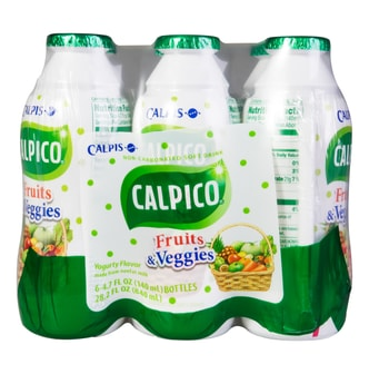 CALPICO Non-Carbonated Mini Soft Drink 4Packs Fruits&Veggies Flavor  840ml