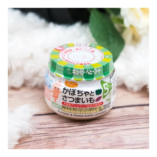KEWPIE Baby Food Pumpkin and Sweet Potato 70g 5M+