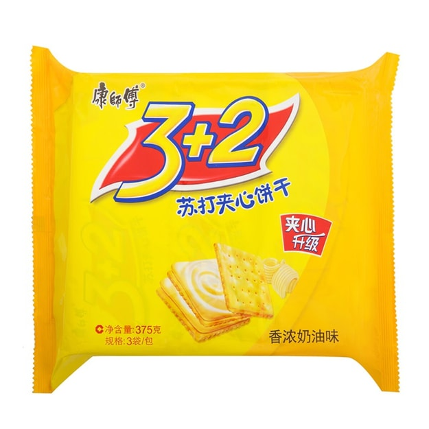 Product Detail - MASTER KONG 3+2 Soda Biscuit Cream Flavor 375g - image 0