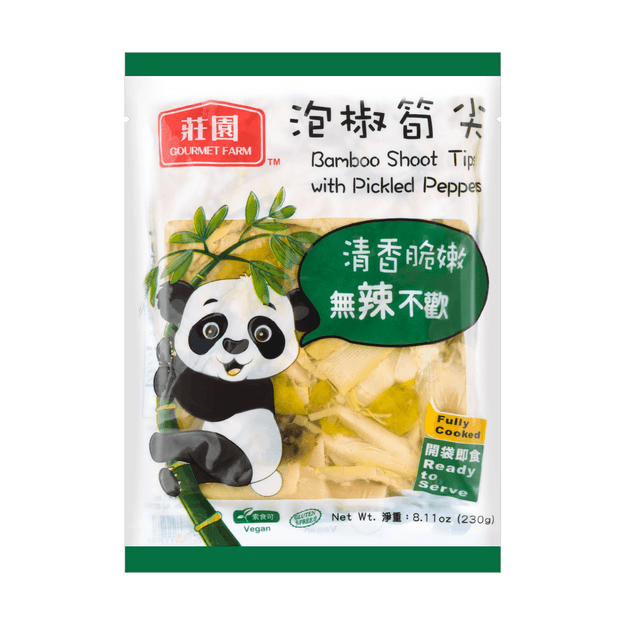 Product Detail - GOURMET FARM Bamboo Shoot Tips w/ P. Pepper 230g - image 0