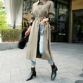 WINGS Maxi Trench Coat #Khaki One Size(S-M)