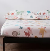 QBEDDING Woodland Animal 100% Cotton Fitted Sheet Full Size