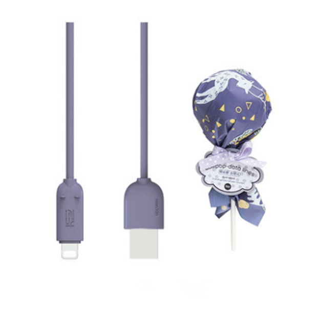 Product Detail - MAOXIN Lollipop Model iPhone Data Cable/Charging Cable Purple - image 0
