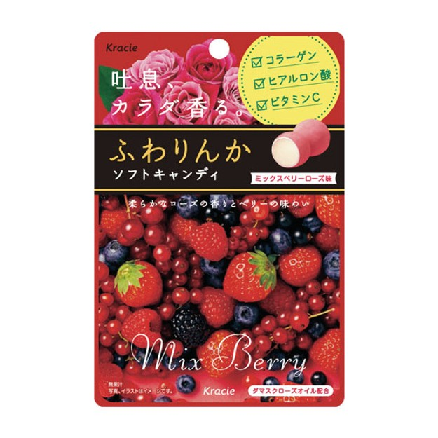 Product Detail - KRACIE FUWARINKA Mix Berry Rose Candy 32g - image 0