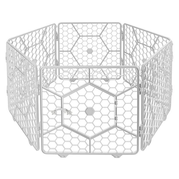 商品详情 - 8面板塑料 定制宠物围栏笼-(浅灰色) - image  0