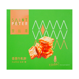 【11/24/2020 EXP】SAINT PETER Scallion Nougat Cracker 135g