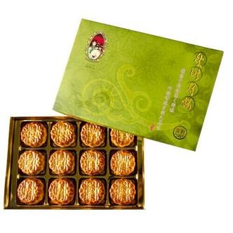 台湾生计 月禧 茶味综合小月饼 茉莉/绿茶/乌龙/圆枣/柚子/茶栗 礼盒装 12枚入