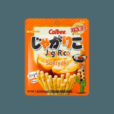 日本CALBEE卡乐比 JAGARICO 土豆脆棒 寿喜烧风味 52g