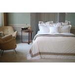 CROWN GOOSE Luxurious Duvet Cover Set Premium 100% Cotton 100S (500 TC) - Jardin Collection #Beige Queen Size