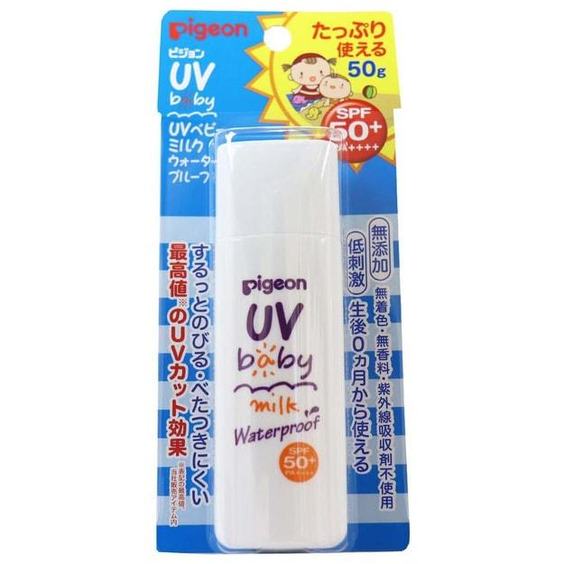 商品详情 - 【日本直邮】PIGEON 贝亲 婴幼儿防晒 SPF50+ PA++++ 低刺激 敏感肌可用 50g - image  0