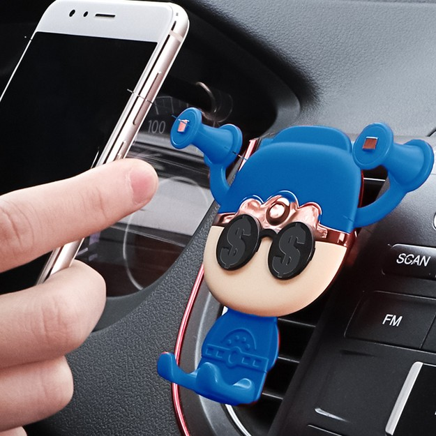 Product Detail - RAMBLE Universal Car Bracket Air Outlet Brackets Support For Iphone 5 5s 6 6s 7 7Plus X Samsung Galaxy Blue 1pc - image 0