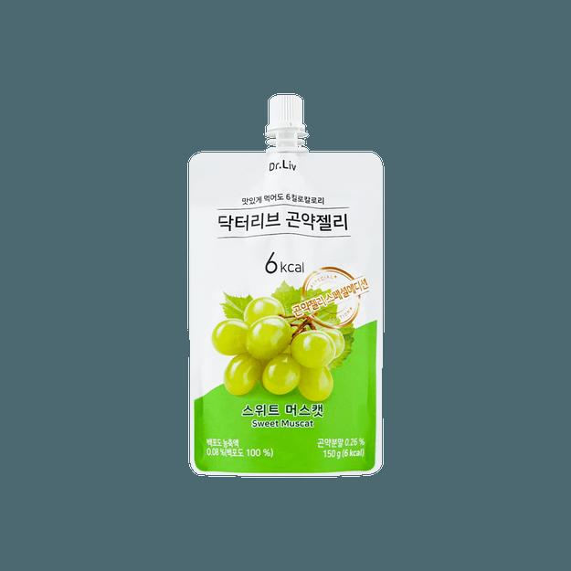 商品详情 - 韩国DR.LIV 低糖低卡蒟蒻果冻 甜麝香葡萄味 150g - image  0