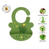 UNCLEWU 婴儿硅胶防水围兜- 青蛙-TIMON