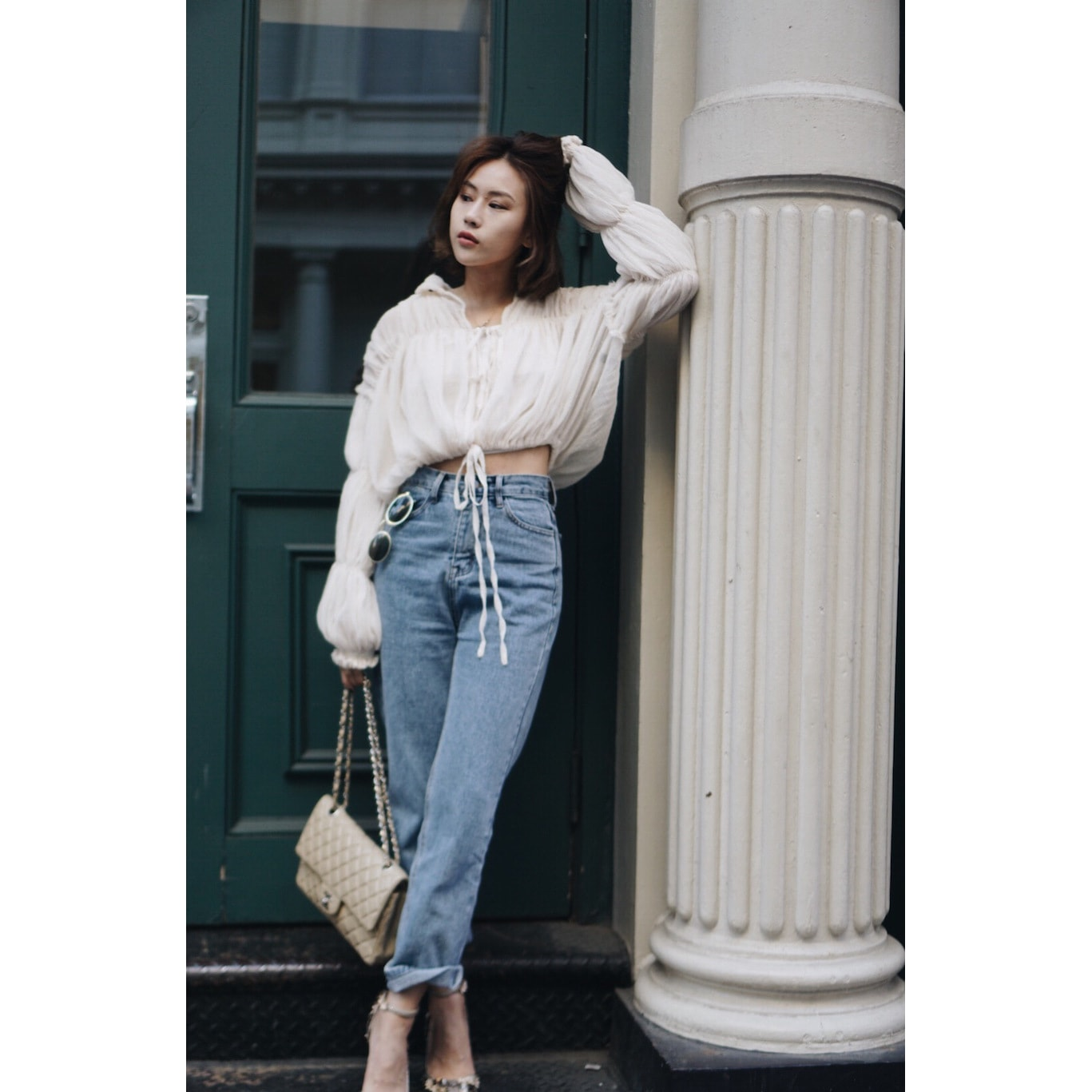 Yamibuy.com:Customer reviews:VERAFIED La Crepe Silk Shirt White One-size(S - L)