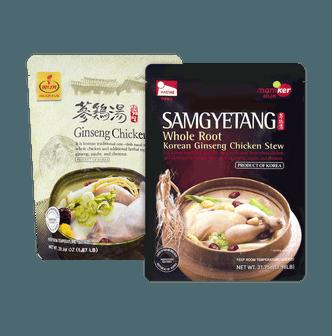 MANIKER Korean Traditional Ginseng Chicken Stew Samgyetang pack