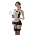 Feeetmoi情趣内衣性感女佣装短裙制服诱惑蕾丝角色扮演服装女仆装全套网袜7911黑