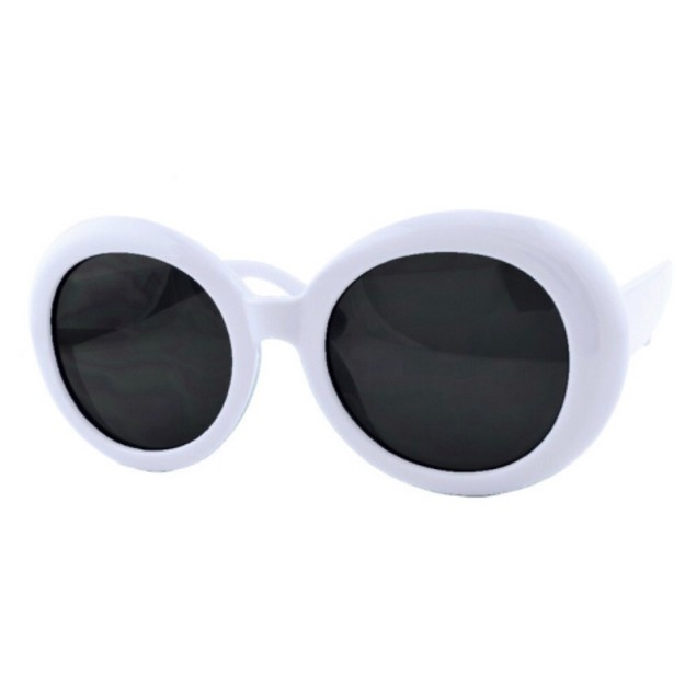Product Detail - RETRO POP Fashion Sunglasses 7416 White Frame/Grey Lens - image 0