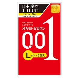 OKAMOTO 001 Condoms Lsize 3pc