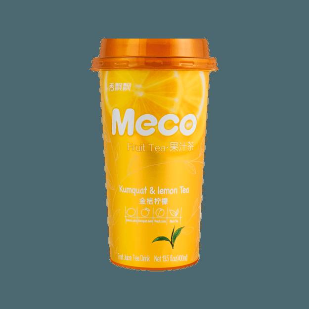 商品详情 - 香飘飘 MECO 蜜谷果汁茶 金桔柠檬味 400ml 两种包装随机发送 - image  0