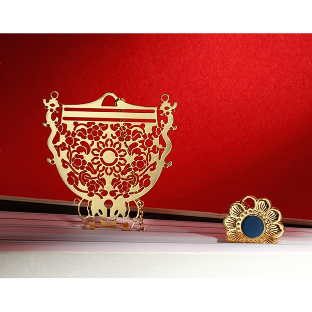 Product Detail - THE PALACE MUSEUM Bookmark # Gold Goblet #2pcs - image 0