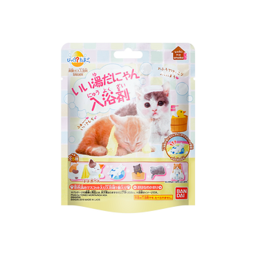 日本万代 Bandai Bikkura Tamago儿童泡澡球盲盒盲袋 #猫咪 内含一个小玩具共5款随机发送