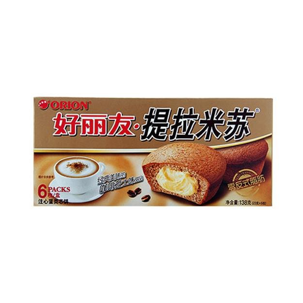 商品详情 - 韩国ORION好丽友 提拉米苏注心蛋类芯饼 6枚入 - image  0