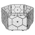 8面板塑料 定制宠物围栏笼-(深灰色)