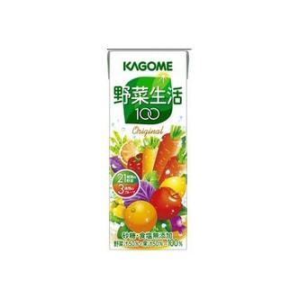 日本KAGOME野菜生活21种蔬菜+3种水果维生素补给果汁200g