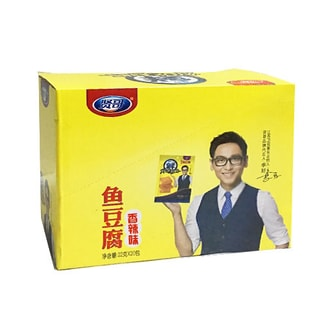 TXFOOD Spiced Fish Tofu Snack Spicy 440g